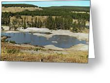 Yellowstone Mineral Ponds Greeting Card