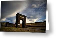 Yellowstone North Gate Greeting Card