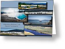 Yellowstone Park August Panoramas Collage Greeting Card