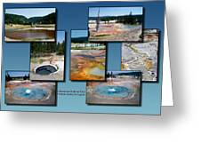 Yellowstone Park Firehole Spring In August Collage Greeting Card