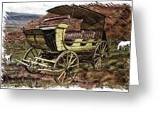 Yellowstone Park Stage Coach With Horses Pa 01 Greeting Card
