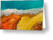 Yellowstone Pool Greeting Card
