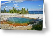 Yellowstone Prismatic Pool Greeting Card by Brent Parks