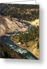 Yellowstone River Canyon Greeting Card