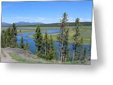 Yellowstone River Panarama Greeting Card