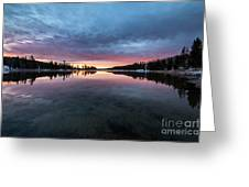 Yellowstone River Sunrise Colors Greeting Card