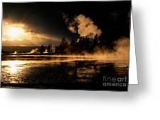 Yellowstone River Sunrise Greeting Card