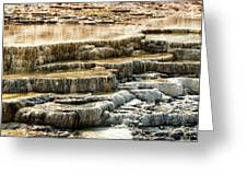 Yellowstone Rock Formation Greeting Card