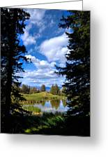 Yellowstone Sky Greeting Card