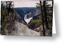 Yellowstone Water Fall Greeting Card