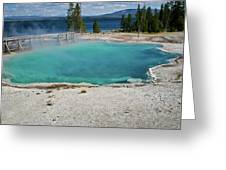 Yellowstone Water Pool Greeting Card by Brent Parks