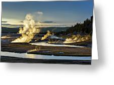 Yellowstone's Midway Geyser Basin  Greeting Card
