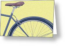 Yelow Bike Greeting Card