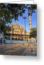 Yeni Cami , New Mosque , In The Morning, Istanbul, Turkey. Greeting Card