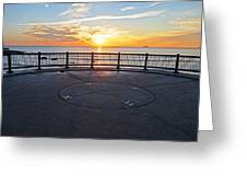 Yes, The Sun Rises To The East Red Rock Park Lynn Shore Drive Greeting Card