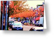 Yew Street Autumn Greeting Card