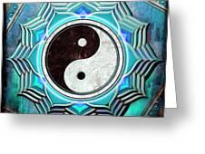 Yin Yang -  The Healing Of The Blue Chakra Greeting Card