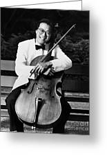 Yo-yo-ma (1955- ) Greeting Card by Granger