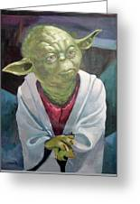 Yoda. Original Acrylic Greeting Card