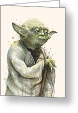 Yoda Portrait Greeting Card