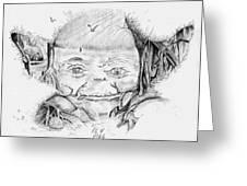 Yoda's Back Garden Greeting Card