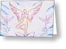 Yoga Angels  Greeting Card