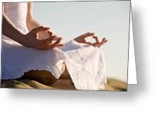 Yoga Greeting Card by Kati Molin