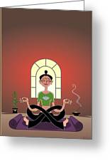 Yoga Pretzel Greeting Card