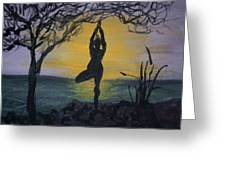Yoga Tree Pose Greeting Card