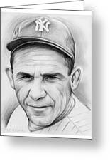 Yogi Berra Greeting Card