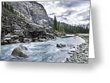 Yoho River At Takakkaw Falls Greeting Card