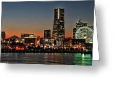 Yokohama At Dusk Greeting Card