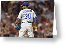 Kansas City Royals, Yordano Ace Ventura,  Painting, Forever Blue Greeting Card