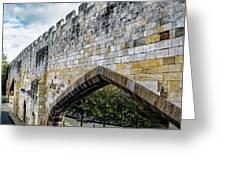 York City Roman Walls Greeting Card