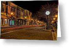 York South Carolina Downtown During Christmas Greeting Card