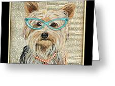 Yorkshire Terrier-jp3856 Greeting Card