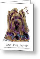 Yorkshire Terrier Pop Art Greeting Card