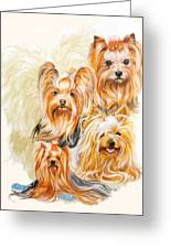 Yorkshire Terrier W/ghost Greeting Card