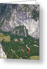 Yosemite Aerial View - California Greeting Card