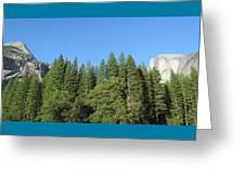 Yosemite Domes Greeting Card