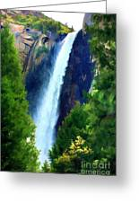 Yosemite Falls Color Print Greeting Card