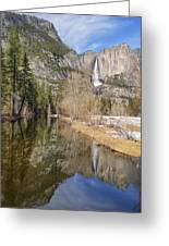 Yosemite Falls Reflection Greeting Card