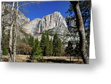 Yosemite Falls Through The Trees Greeting Card
