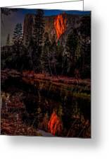 Yosemite Firefall 2015 Greeting Card