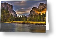 Yosemite- Gates Of The Valley Greeting Card