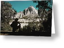 Yosemite Hiker Greeting Card