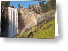 Yosemite Mist Trail Rainbow Greeting Card by Shane Kelly