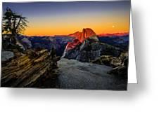 Yosemite National Park Glacier Point Half Dome Sunset Greeting Card