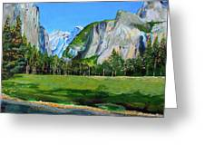 Yosemite National Park In The Spring Greeting Card