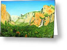 Yosemite National Park Greeting Card by Jerome Stumphauzer